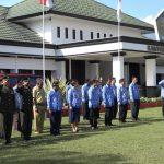Upacara peringatan hari kesaktian pancsila yang di pusatkan di halaman kantor Bupati Kabupaten Jayawijaya.